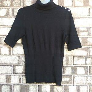 WHBM black cowl neck sweater size M